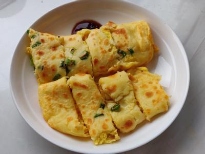 台灣早餐手工蛋餅→15分鐘完成的照片