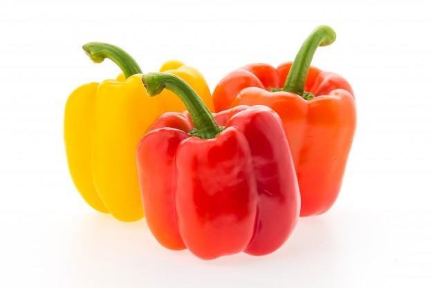 甜椒有紅色、橙色、黃色等多種顏色。