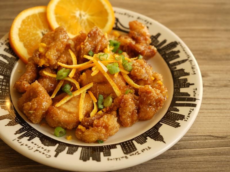 簡易情人節主餐❤橙汁雞丁