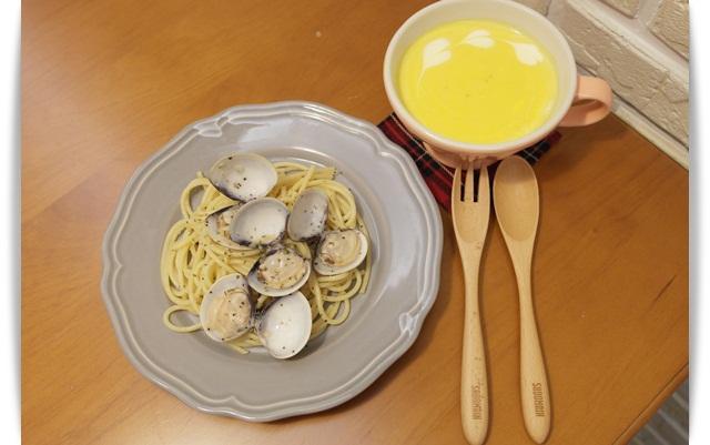 白酒蛤蠣蒜香義大利麵~~簡單海味!!
