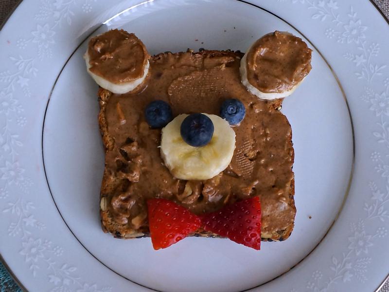 吐司創意變化『小熊造型』三分鐘。營養滿分