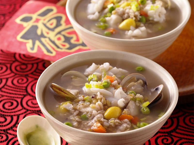海鮮蔬菜十穀米粥