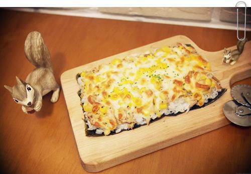 焗烤玉米鮪魚米壽司!!好香好好吃~~