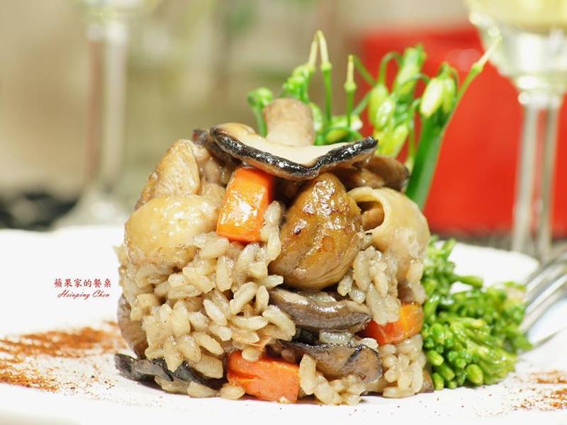 野菇栗子雞肉燉飯