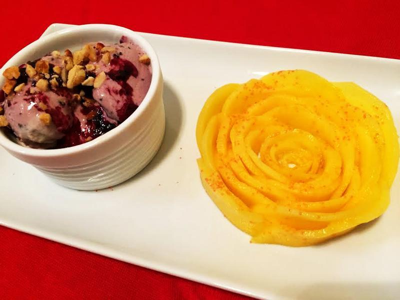 芒果玫瑰花&冰淇淋紅酒藍莓醬/愛琳加鄉味