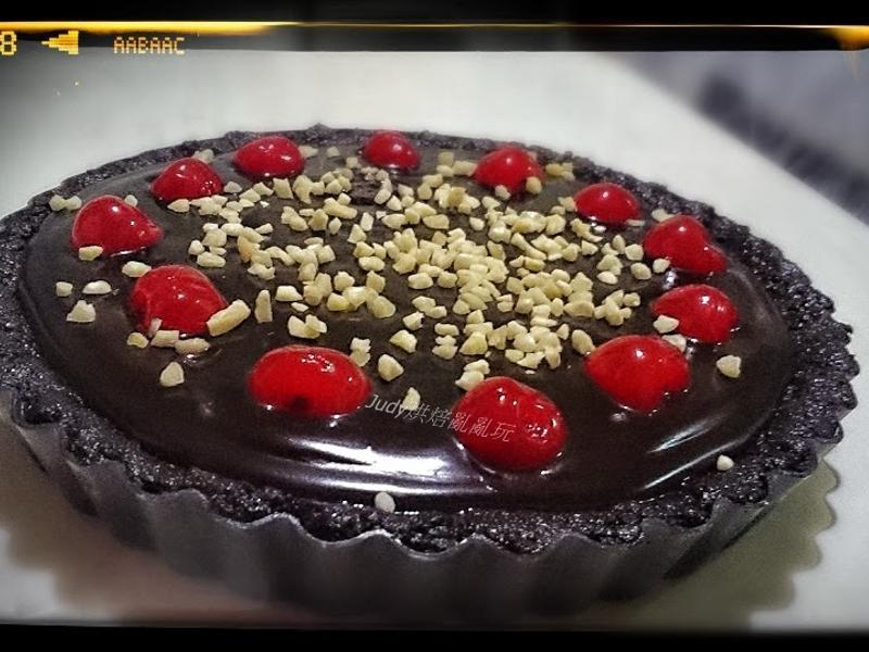 oreo櫻桃巧克力塔(免烤箱)