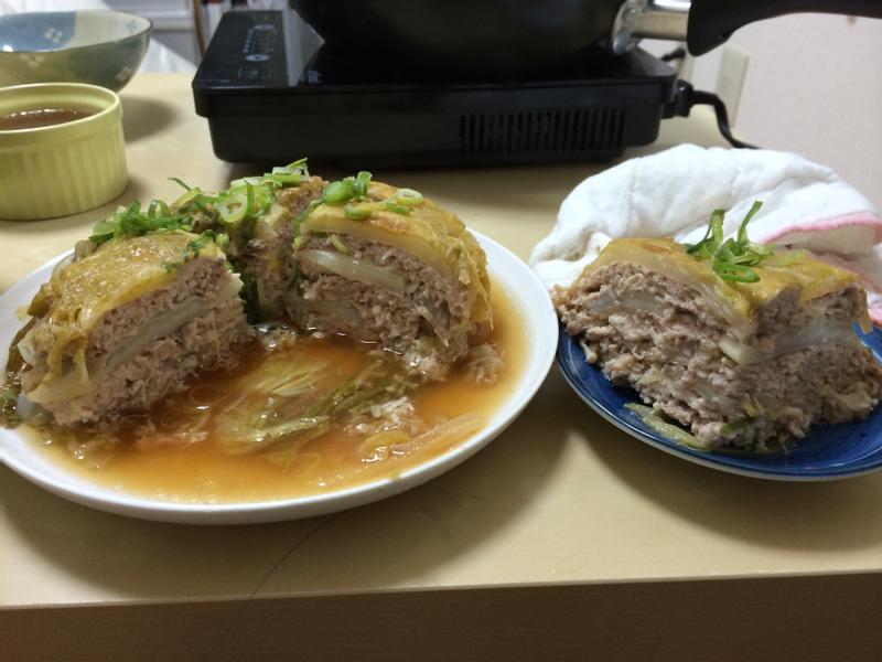 (炊飯機料理)白菜千層