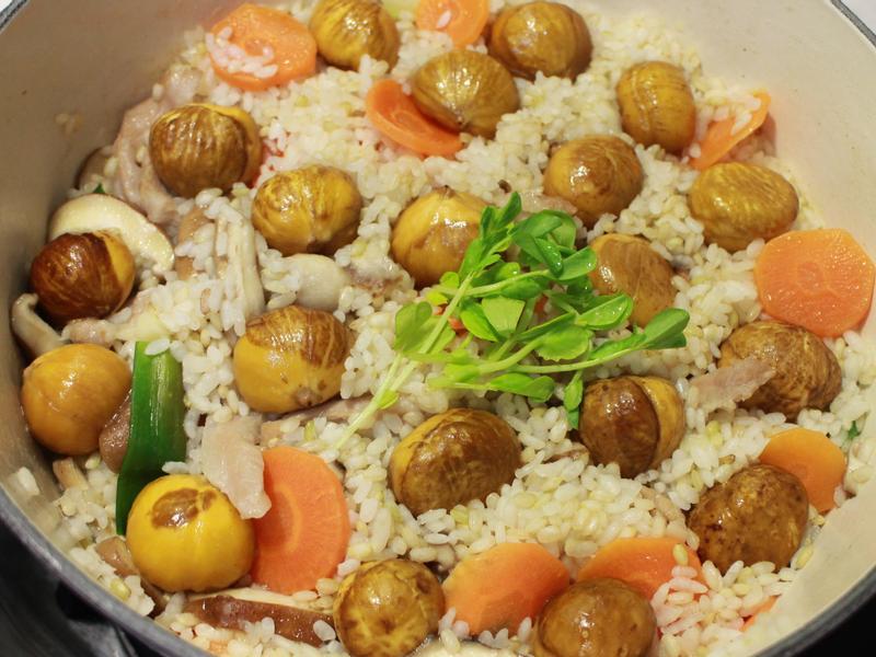 松坂肉香菇栗子胚芽米炊飯