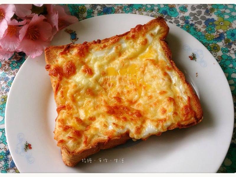三步驟完成的輕料理 - 焗烤乳酪蛋吐司