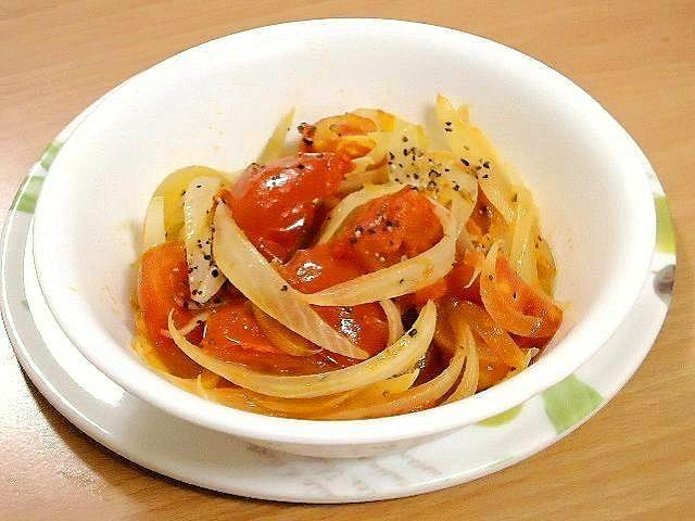 【不沾平底鍋】番茄炒洋蔥