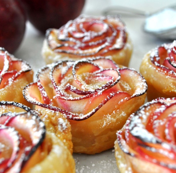 讓人失心瘋的下午茶新寵---烤玫瑰蘋果卷