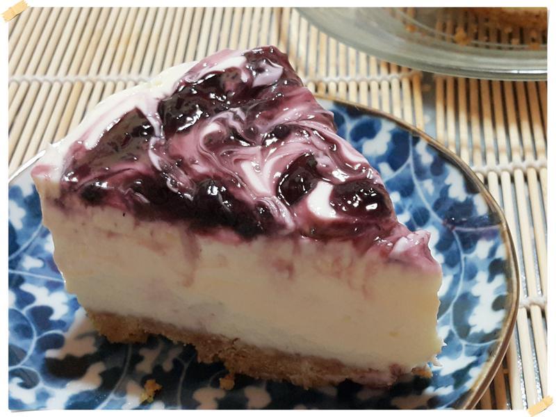 白巧克力藍莓起司蛋糕(免烤無吉利T無蛋)