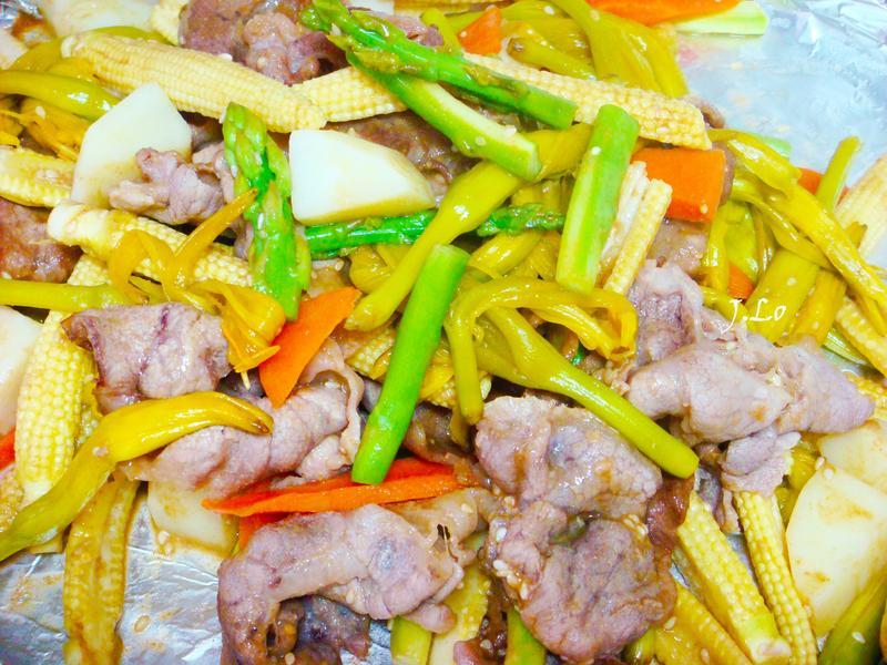 鮮蔬豬肉溫沙拉