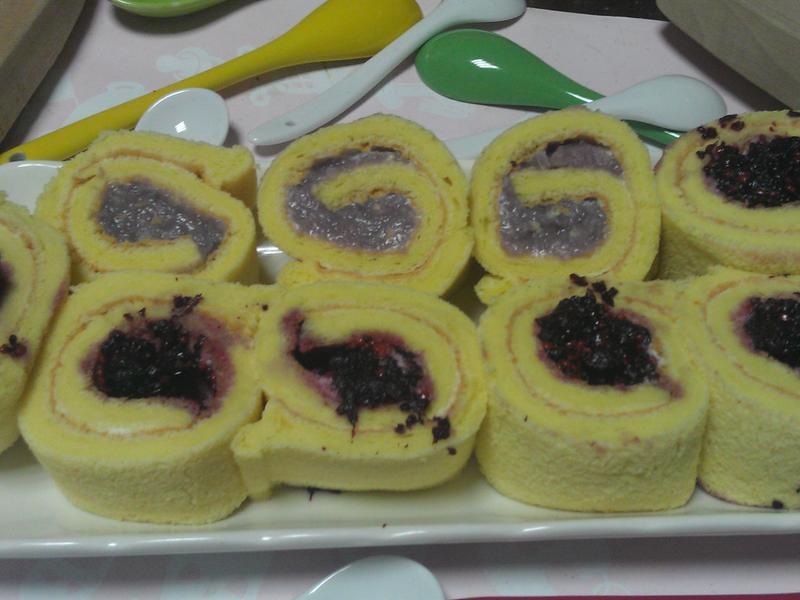 芋泥/桑椹瑞士蛋糕捲
