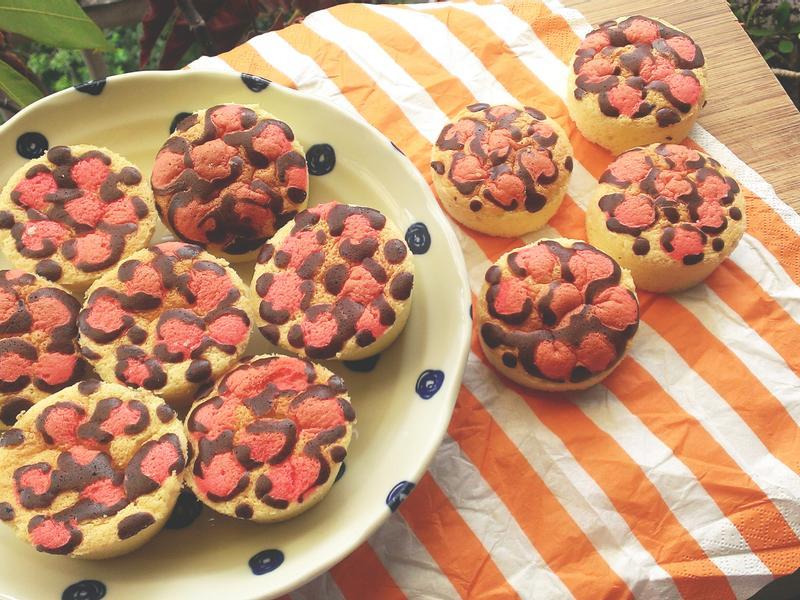豹紋蛋糕 (蜂蜜棉花配方)