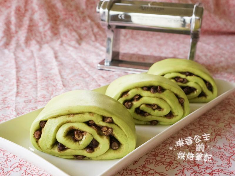 抹茶紅豆饅頭(壓麵機版本)