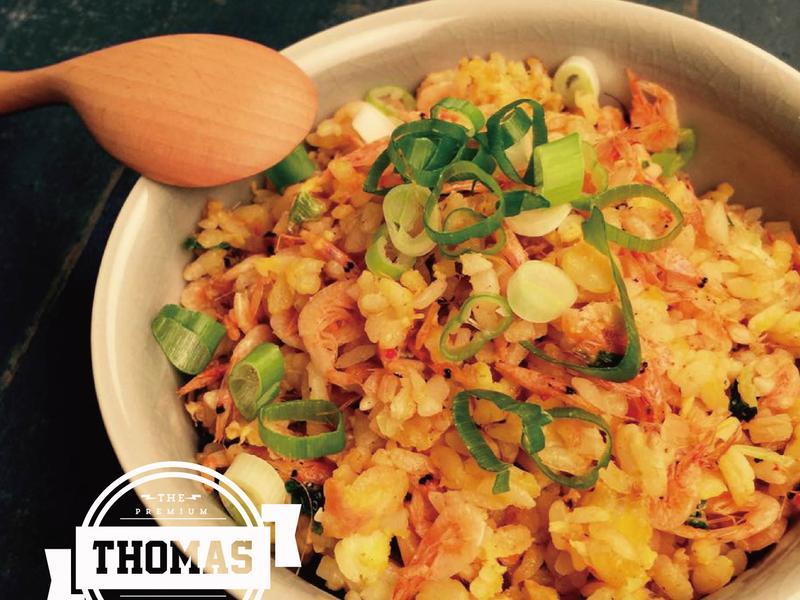 【湯瑪仕上菜】- 藍帶級黃金櫻花蝦炒飯