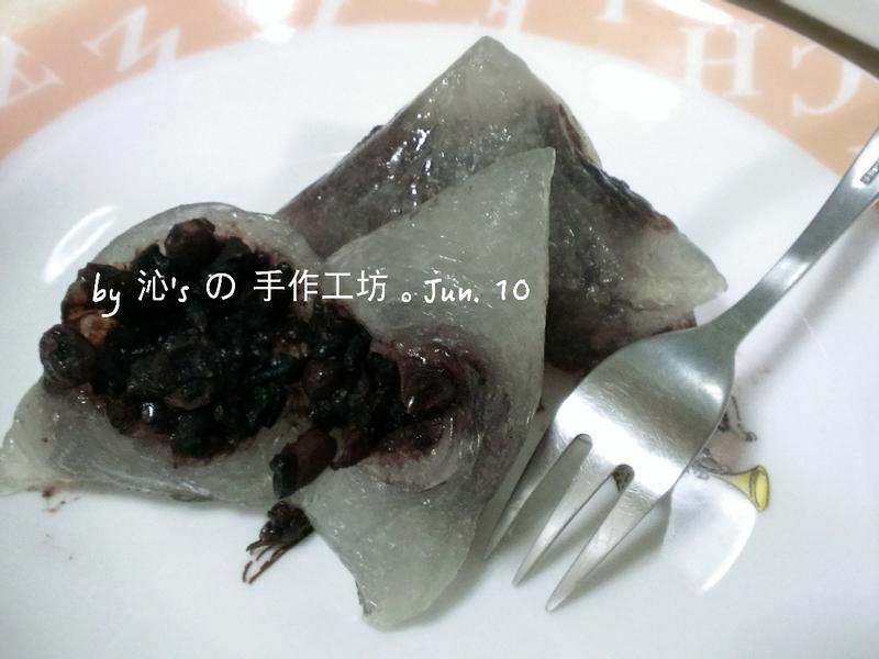 紅豆紫米冰粽 (簡易作法)