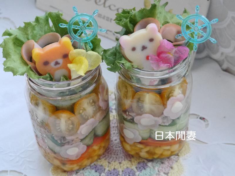 ♡夏日懶熊玻璃罐沙拉♡