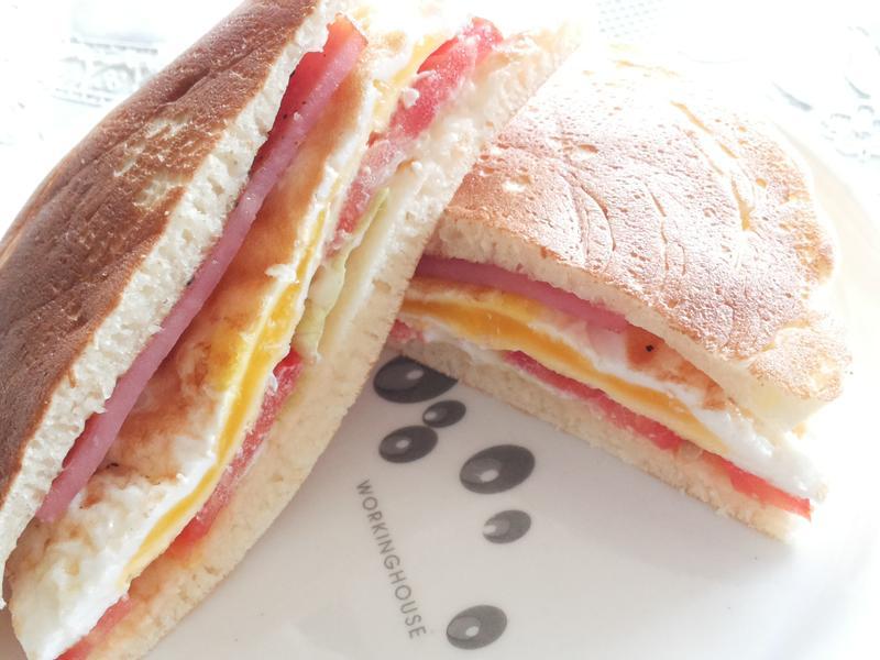 鬆餅三明治【早餐 下午茶】