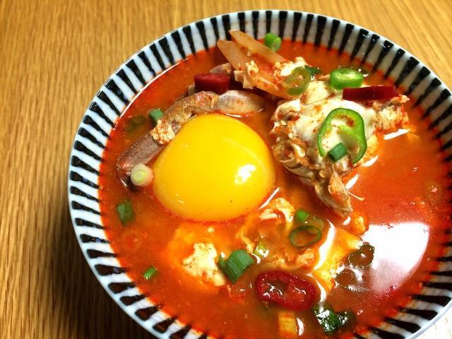 海鮮辣豆腐鍋 꽃게순두부찌개