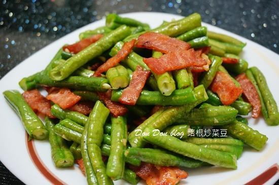 培根炒菜豆