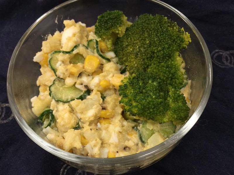 [蒸爐料理] 橄欖油馬鈴薯蛋沙拉