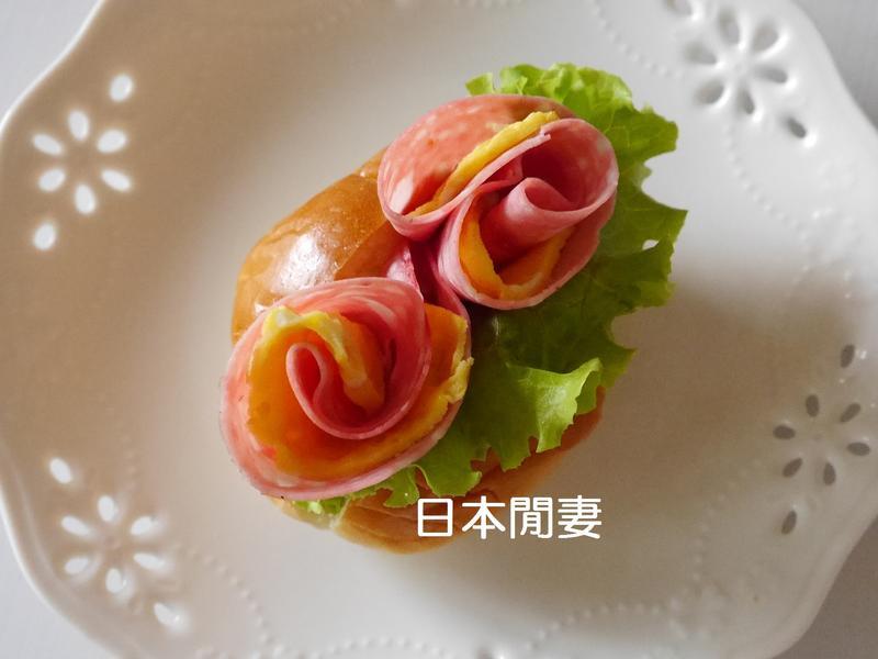 ❣日本閒妻超簡單火腿蛋花朵❣