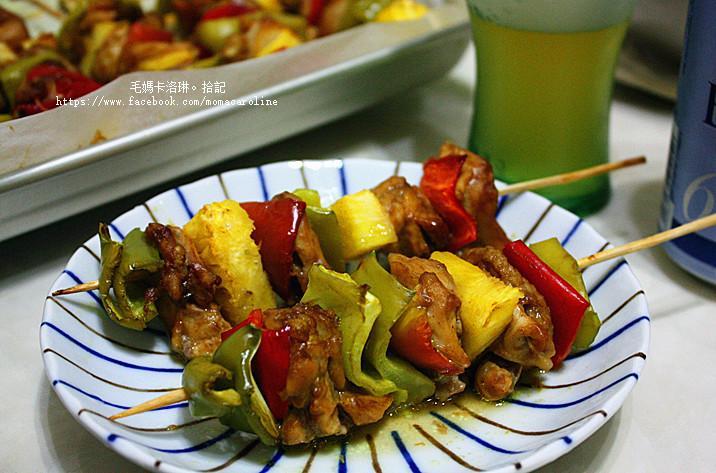 咖哩雞肉串燒(烤箱版)