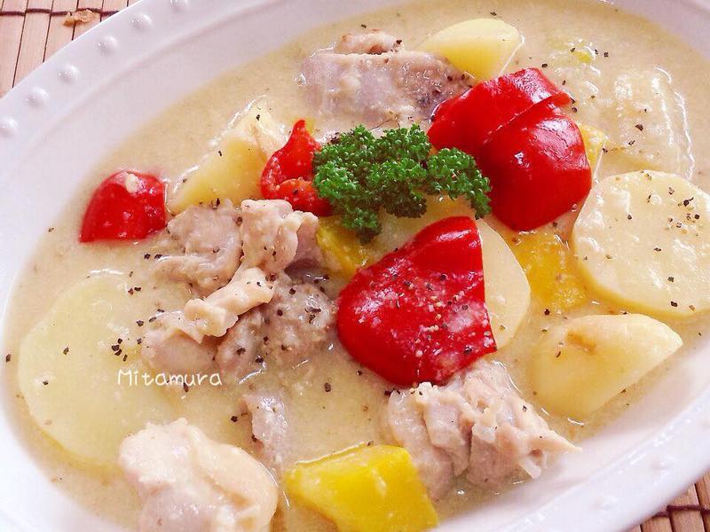 白醬鮮蔬燉雞