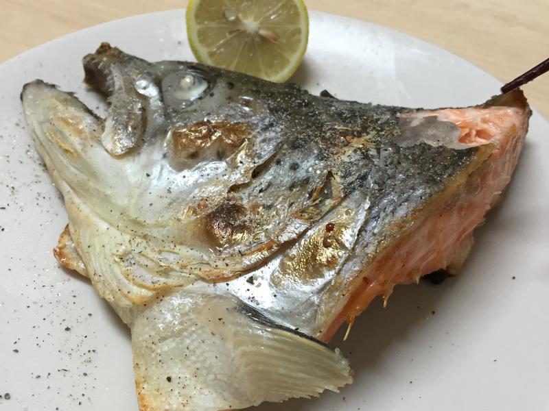 [水波爐食譜]鹽漬檸檬烤鮭魚頭