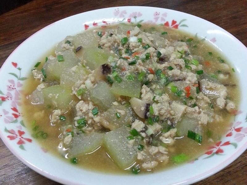 香菇肉末煮冬瓜