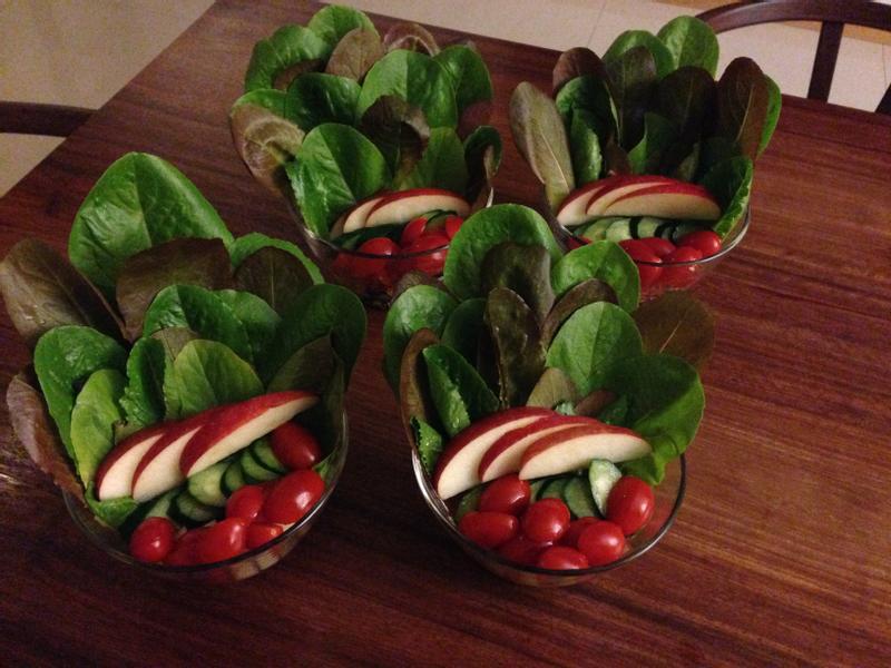 夏日推薦~雙色萵苣和風沙拉