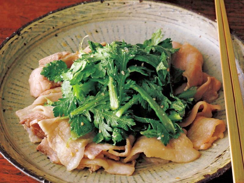 東販小食堂:絕品下酒菜 涮豬肉片茼蒿
