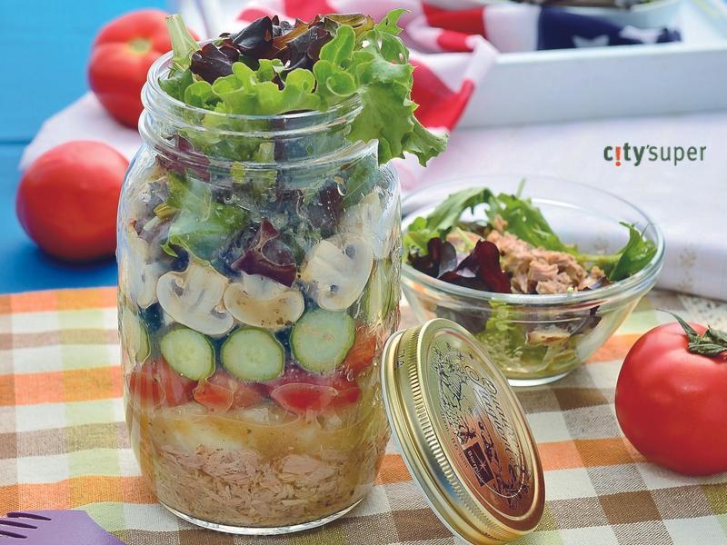 【夏日野餐】鮪魚野菜玻璃罐沙拉