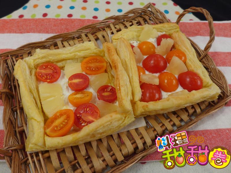 料理甜甜圈【清爽不卡油】彩色番茄塔