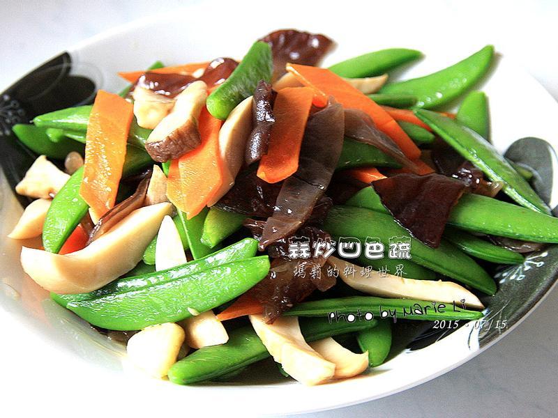瑪莉廚房:蒜炒四色蔬