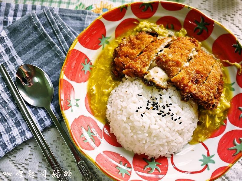 咖哩起司豬排【可果美咖哩醬】