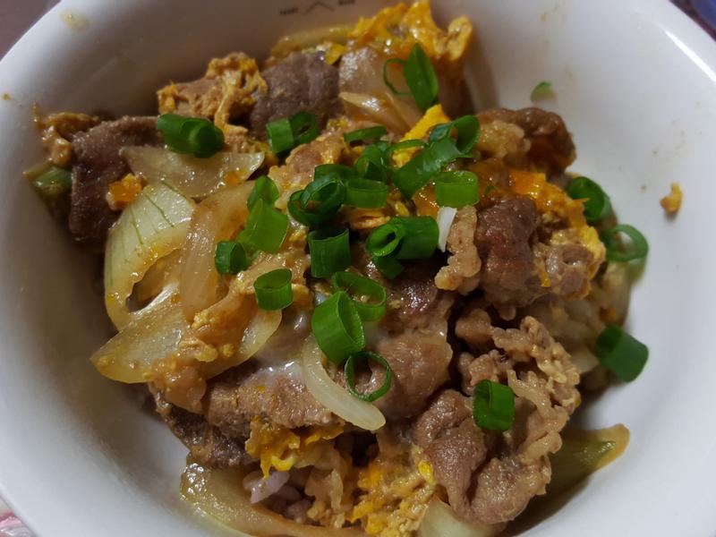 『家常料理』親子牛肉丼飯
