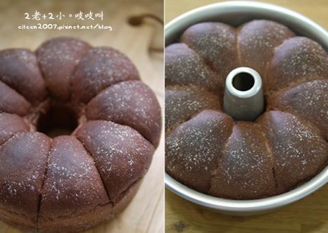 花型巧克力煉乳麵包【松下烘焙賽】