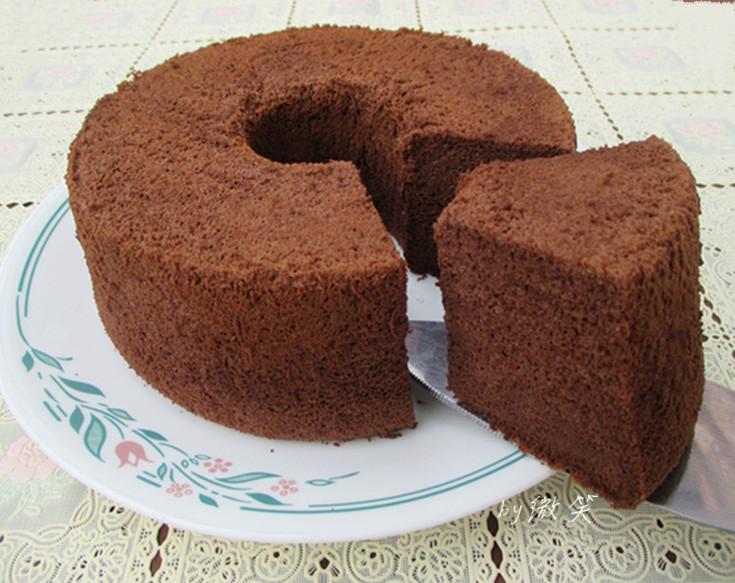 香濃濕潤~ 巧克力戚風蛋糕