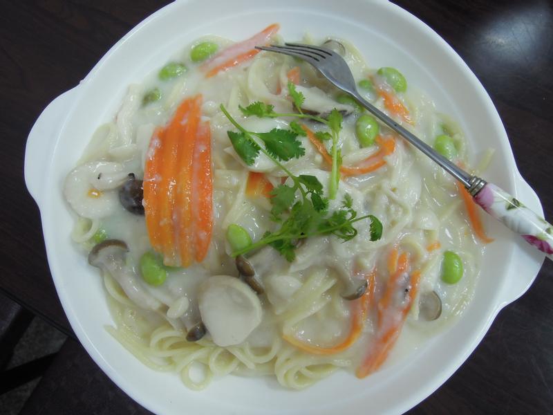 素食白醬菇菇麵