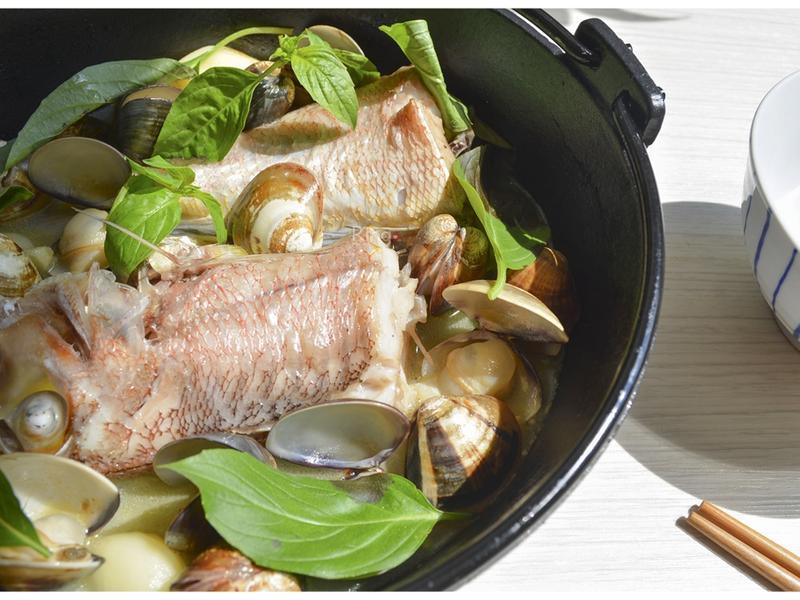 蛤蜊蒜香魚