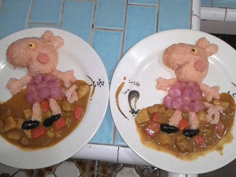 雙寶媽的親子餐~愛跳泥巴坑的佩佩豬