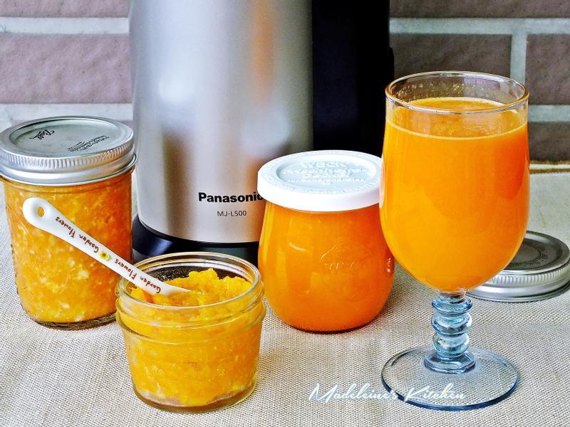 胡蘿蔔柳橙汁+胡蘿蔔柳橙果醬-慢磨蔬果機