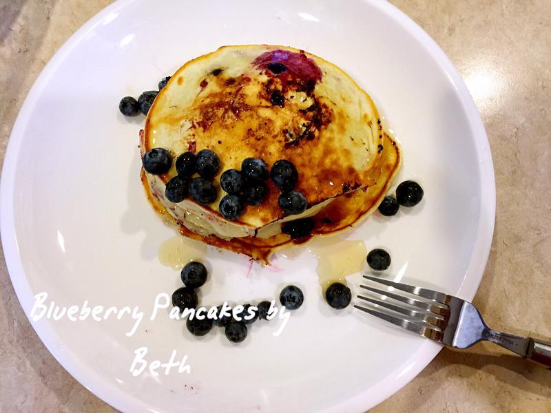 藍莓鬆餅 - 早餐