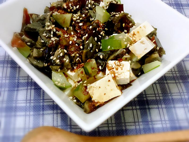 川味黃瓜皮蛋豆腐【零失敗3分鐘料理】