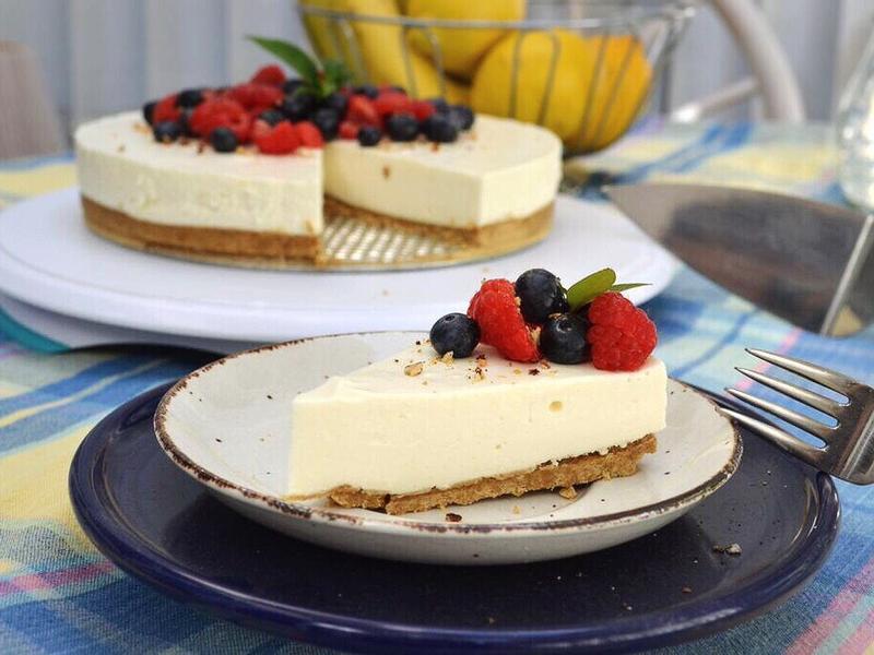 檸香莓果生乳酪蛋糕(免烤箱)