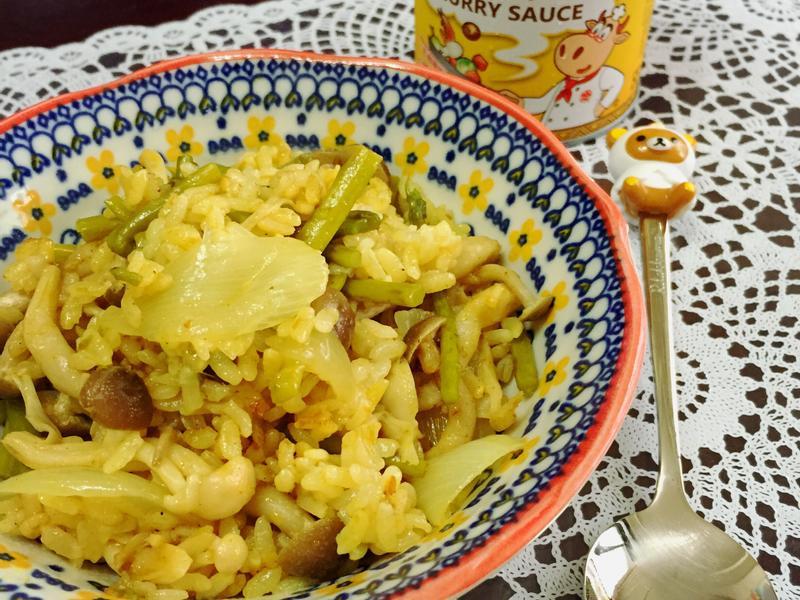 蘆筍鮮菇咖哩炊飯《牛頭牌咖哩新食代》