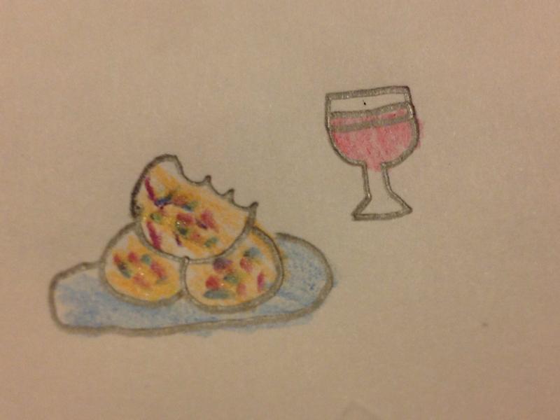 彩虹蛋黃餅